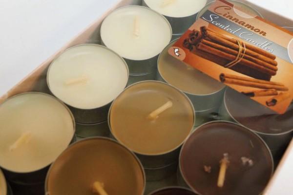 Čajové sviečky - škorica