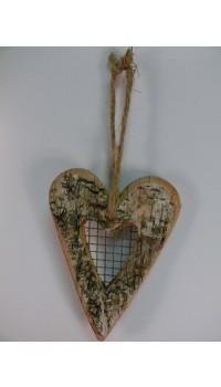 Srdce z brezového dreva menšie