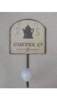 Kovový háčik - Coffee