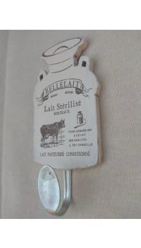 Drevený háčik s kravičkou