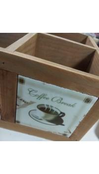 Drevená krabička - Coffe Break