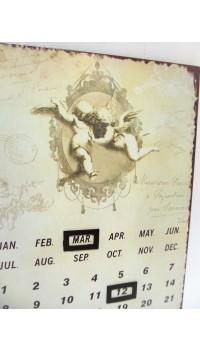 Plechový večný kalendár