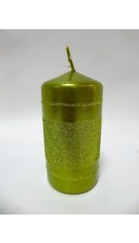 Sviečka valec - olivová