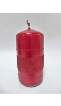 Sviečka valec - červená