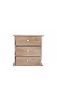 Šperkovnica drevená - tri zásuvky