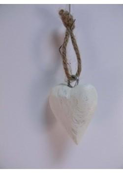 Drevené srdiečko biele