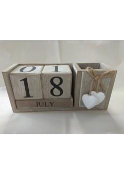 Večný kalendár  s miestom na perá