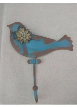 Kovový háčik - Tyrkysový vtáčik