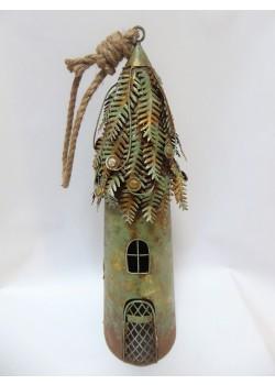 Kovový domček na sviečku