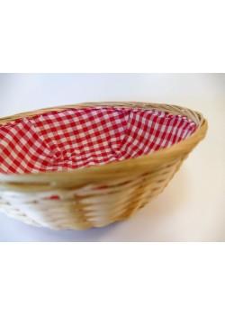 Košík na chlieb  s látkou - okrúhly
