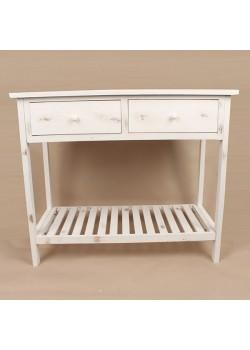 Biely vintage stôl
