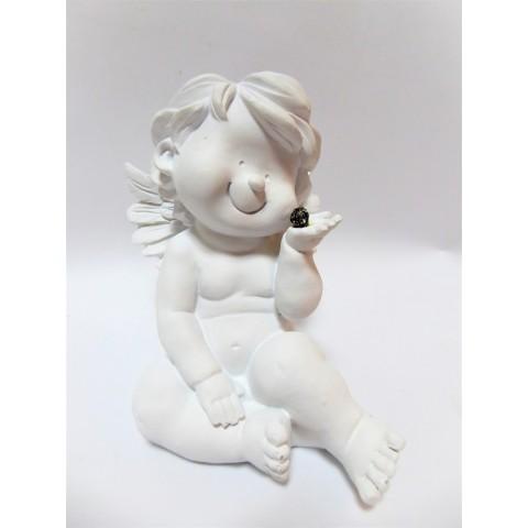 Barokový biely anjel